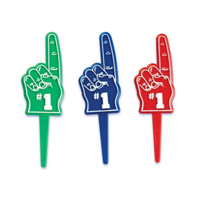 24 Number 1 Finger Cupcake Topper Picks
