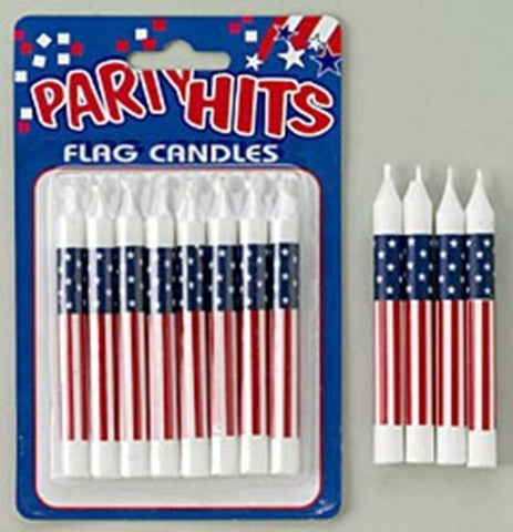 USA Patriotic Flag Candles