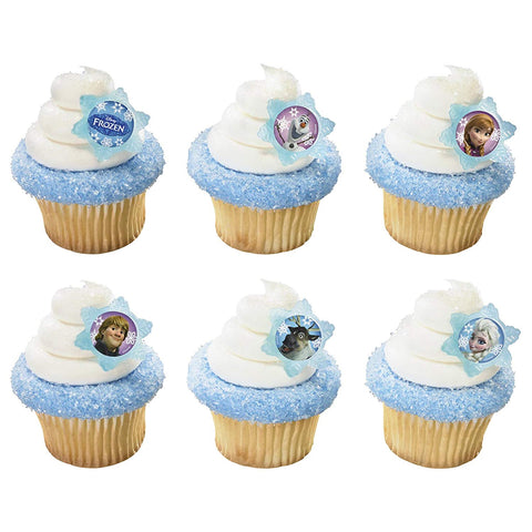 24 Disney Frozen Cupcake Topper Rings