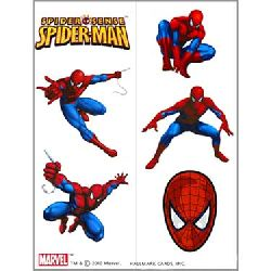 Marvel Spiderman Spider-Sense Temporary Tattoos