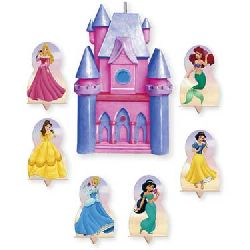 Disney Princess Candle & Cake Topper Set
