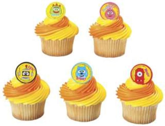 24 Yo Gabba Gabba! Brobee & Friends Cupcake Rings Topper Party Favor Cake Decor