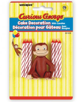Curious George Cake Decoration with Candles