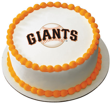 MLB San Francisco Giants Edible Icing Sheet Cake Decor Topper
