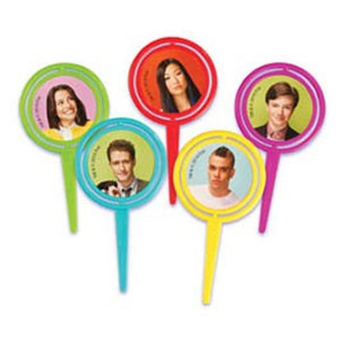 24 Glee Spinner Cupcake Picks