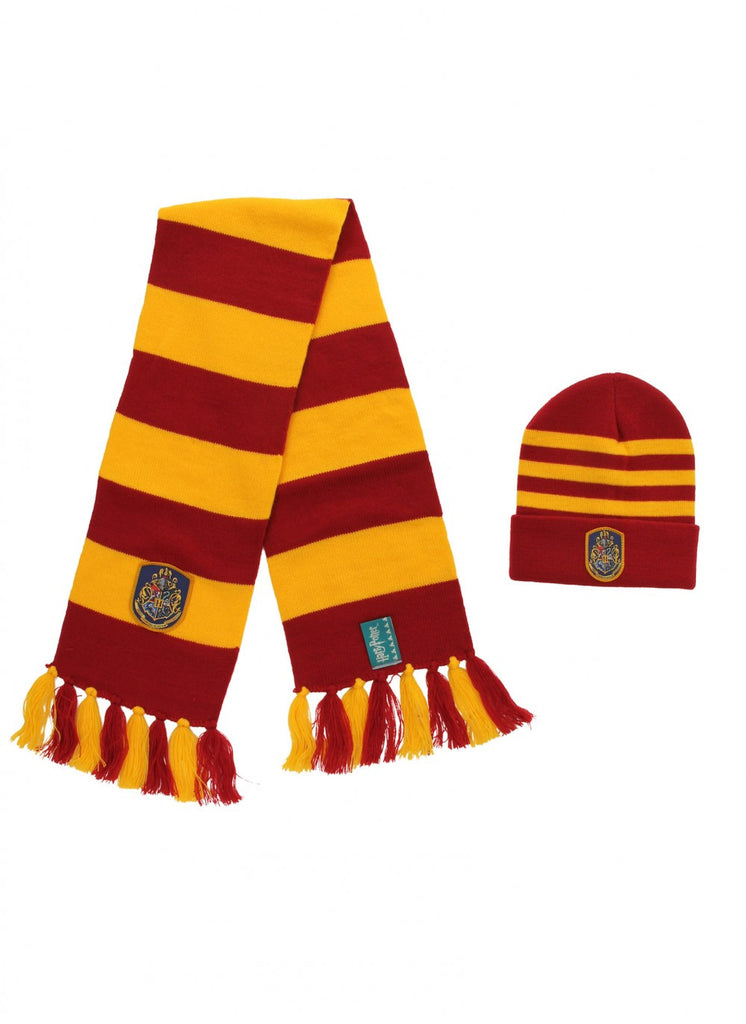 Harry Potter Hogwarts Knit Hat & Knit Scarf Set