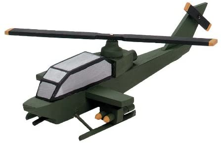 Darice Wood Model Kit Attack Helicopter