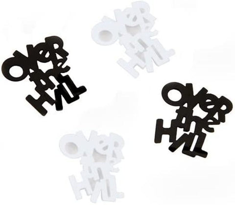 Darice DIY Crafts Over the Hill Black and White Confetti Pack