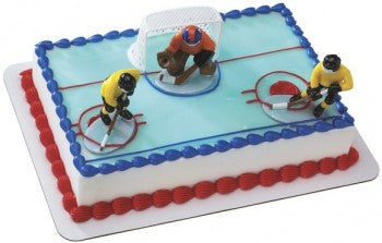 Hockey Face Off Cake Decorating Kit Topper