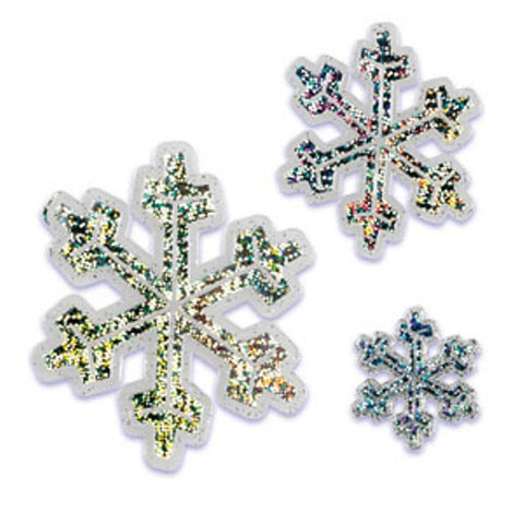 Hologram Snowflake Cake Topper Set