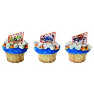 24 Hot Wheels Vrooom Cupcake Topper Rings