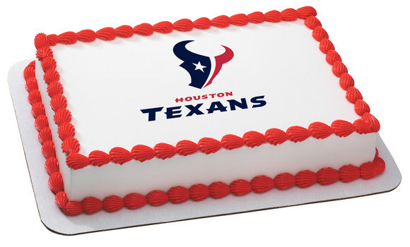 NFL Houston Texans Edible Icing Sheet Cake Decor Topper