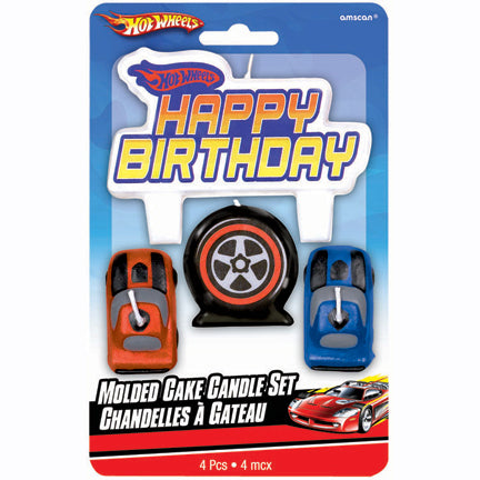 Hot Wheels Happy Birthday Candle Topper Set