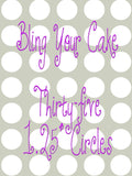 Butterbean's Cafe Edible Icing Sheet Cupcake, Cookie, & Cake Pop Decor Toppers