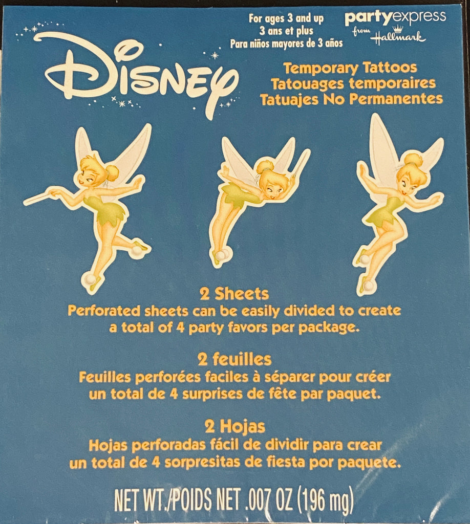 Disney Tinkerbell Temporary Tattoos