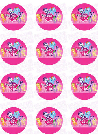My Little Pony Friends Edible Icing Sheet Cake Decor Topper - MLP5