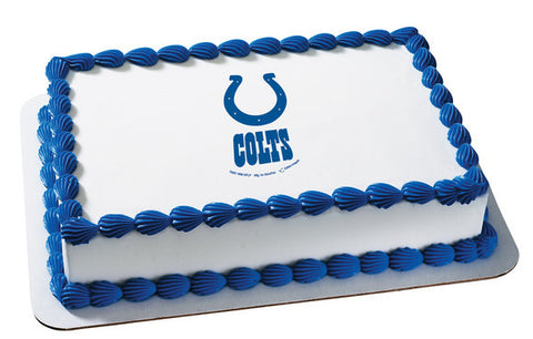 NFL Indianapolis Colts Edible Icing Sheet Cake Decor Topper