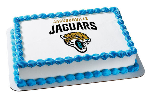 Nfl Jacksonville Jaguars Edible Icing Sheet Cake Decor