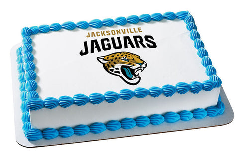 NFL Jacksonville Jaguars Edible Icing Sheet Cake Decor Topper