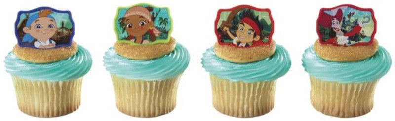 24 Jake and the Neverland Pirates Cupcake Topper Rings