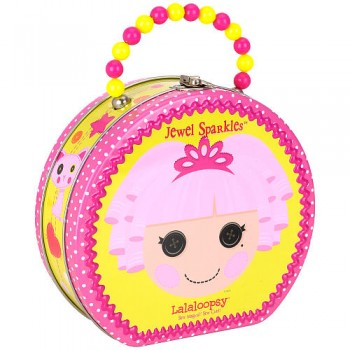 Lalaloopsy Jewel Sparkles Carry All Tin Hat Box