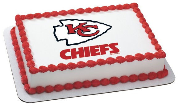 Nfl Kansas City Chiefs Edible Icing Sheet Cake Decor