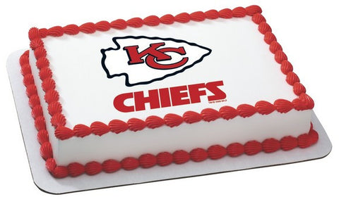 NFL Kansas City Chiefs Edible Icing Sheet Cake Decor Topper