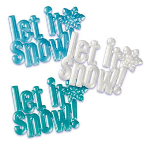 Let It Snow Scripts Cake Topper Set