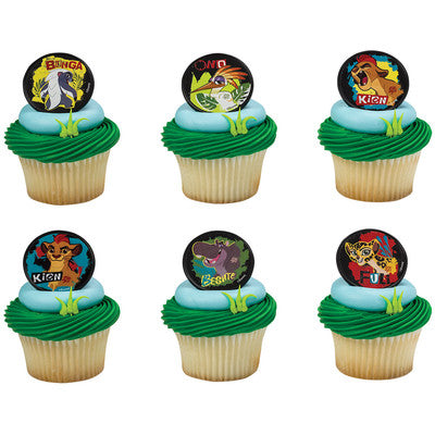 20 Disney Lion Guard Cupcake Rings Cake Decor Toppers Birthday Party Supplies