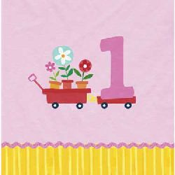 Lil Girl First Birthday Party Birthday Party Napkins