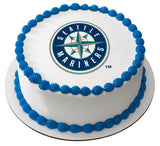 MLB Seattle Mariners Edible Icing Sheet Cake Decor Topper