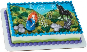 Brave Merida and Angus Cake Decorating Kit Topper