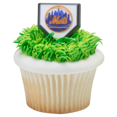 24 MLB New York Mets Cupcake Topper Rings