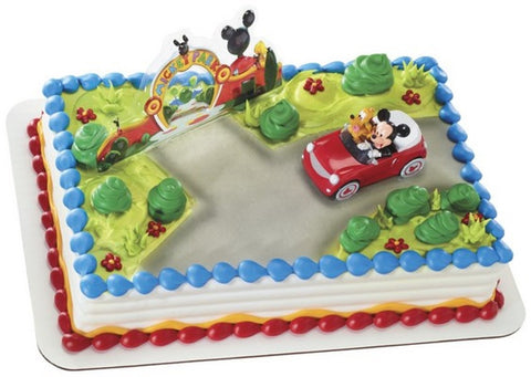 Mickey Mouse and Pluto Car Cake Topper