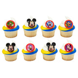 24 Mickey and The Roadster Racers Fun Together Cupcake Topper Rings