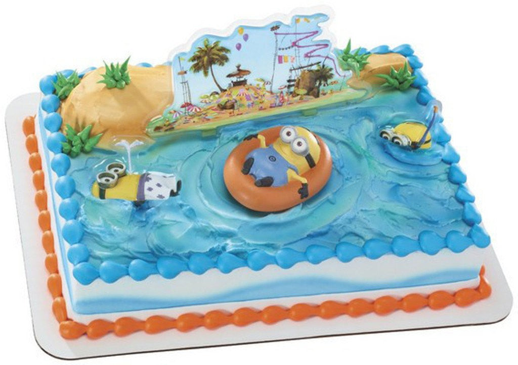 Minion Beach Party Cake Topper Bling Your