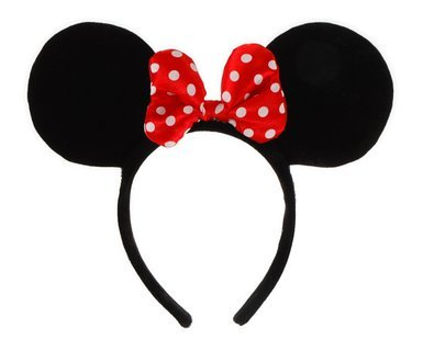 Disney Minnie Mouse Ears Headband with Red Polka Dot Bow by Elope