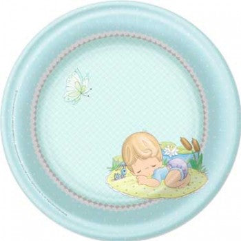 Precious Moments Blue Baby Boy Dinner Plates