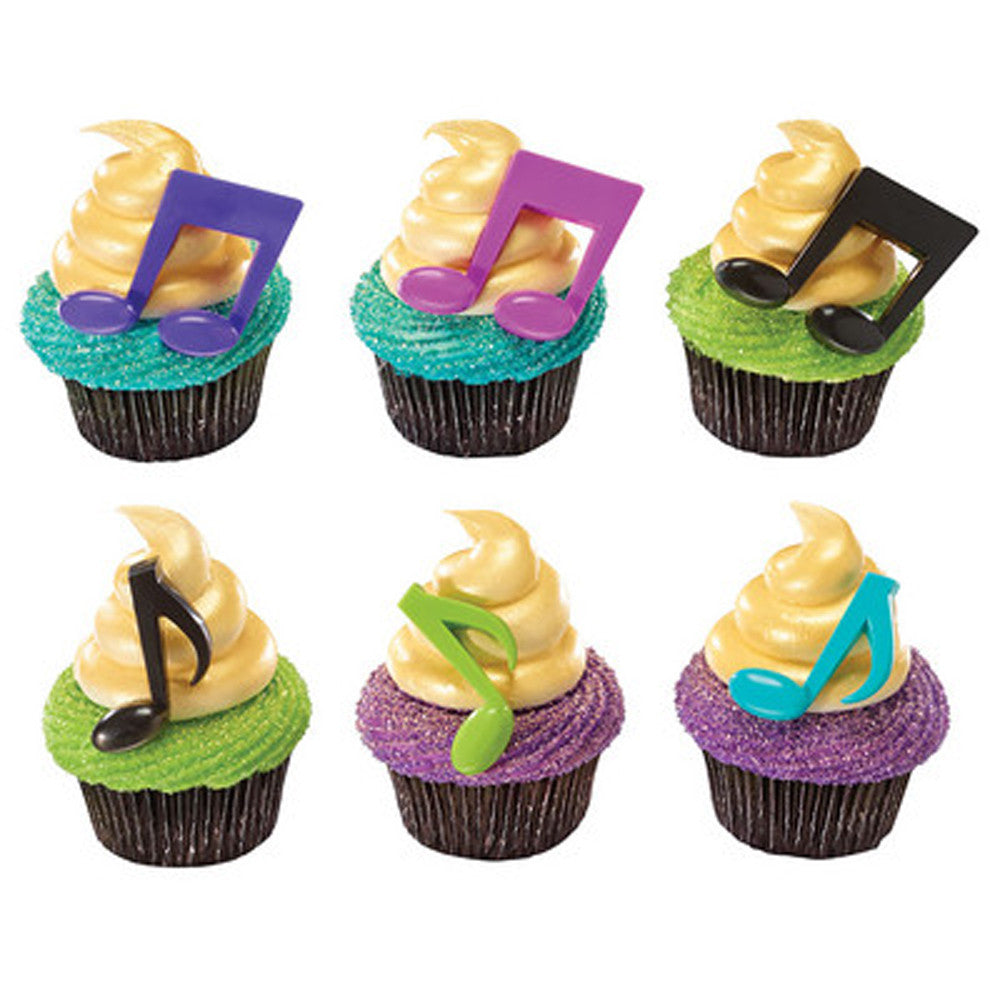 24 Music Note Cake and Cupcake Topper Picks