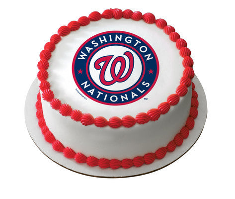 Mlb Washington Nationals Edible Icing Sheet Cake Decor