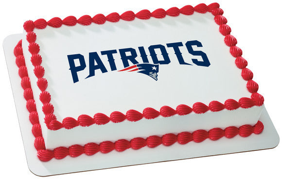 NFL New England Patriots Edible Icing Sheet Cake Decor Topper