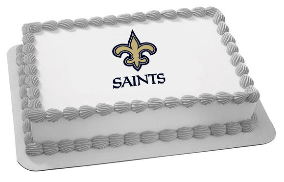 NFL New Orleans Saints Edible Icing Sheet Cake Decor Topper