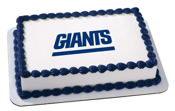 NFL New York Giants Edible Icing Sheet Cake Decor Topper