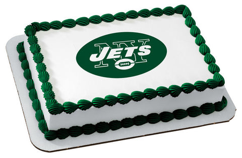 NFL New York Jets Edible Icing Sheet Cake Decor Topper