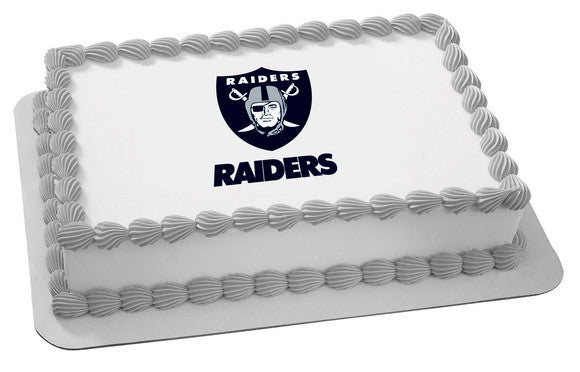 Nfl Oakland Raiders Edible Icing Sheet Cake Decor Topper Bling Your Cake