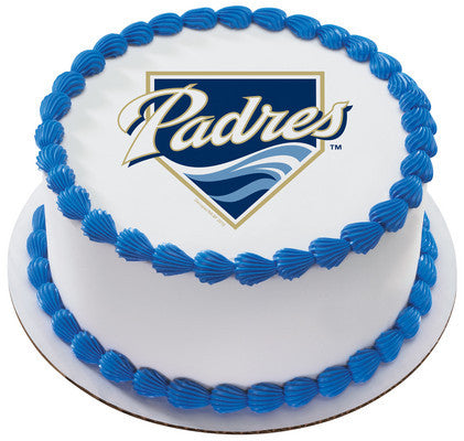 MLB San Diego Padres Edible Icing Sheet Cake Decor Topper