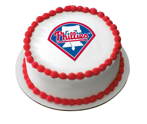 MLB Philadelphia Phillies Edible Icing Sheet Cake Decor Topper