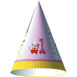 Lil Girl First Birthday Pink Party Birthday Party Hat