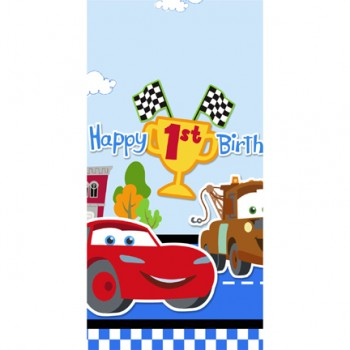 Disney Cars 1st Birthday Tablecover