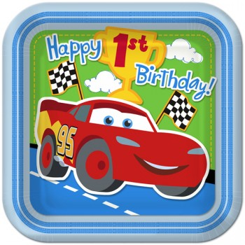 Disney Cars 1st Birthday Dinner Plates